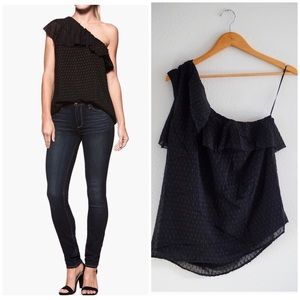NWT Paige shanti one shoulder top in black ❤️